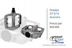 Pedales-GT-9/16-aluminio